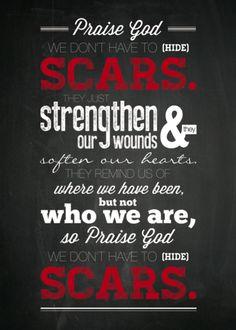 Scars Lyric Poster from Jonny Diaz