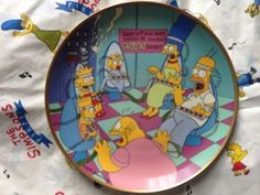 Simpsons Franklin Mint plate Family Therapy