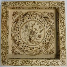 This asian inspired wood pyrographic panel is a 12 inch x 12 inch wood panel inside a wood frame total panel (panel is maple wood) with frame measures: 15 1/2 inches x 15 1/2 inches. All funds generat