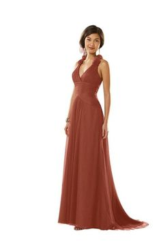 Rust Red Empire Tulle Fl Liques Prom Dress
