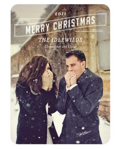 #Christmas #cards don't all have to be smiles and hugs.  Instead, have fun with the poses like this couple!