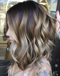 Pretty Balayage Ombre Hair Styles for Shoulder Length Hair, Medium Haircut Color Ideas