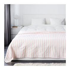 "IKEA - SOMMAR 2016, Bedspread, 98x98 "", , The thicker colored threads woven into the cotton fabric give this bedspread a lively texture."