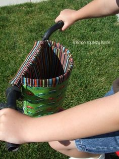 Such a smart idea! Way more exciting than a metal basket :)