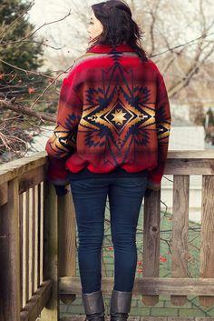 Vintage Pendleton Southwest Blanket Jacket- Size XL cloth, blanketjacket, vintage, vintag pendleton, blankets, southwest blanket, jacket size, pendleton overs, blanket jacket