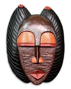 """Designed by Rita Addo Zakour, this elegant #mask depicts her own concept of Obaapa — """"Good Mother"""" in the Akan language."""