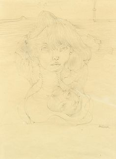 Hans Bellmer (German, 1902-1975)  Double portrait of a young woman, N/D Pencil on paper, 27 x 21 cm