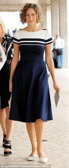 Audrey Hepburn's granddaughter Emma Ferrer channels her chic relative at Fashion Week | Daily Mail Online