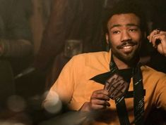 Donald Glover as Lando Calrissian Lando Calrissian Donald Glover, Aesthetic Yellow, Childish Gambino, Mark Hamill, My Vibe, Star Wars Characters, Far Away, Picture Wall, Geeks