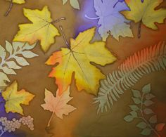 Autumn Leaves Fabric Panel Hand Painted Quilt by paintedquilts, $32.00