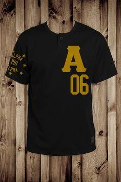 e7a78363fe5 Alpha phi alpha baseball 3 button jersey