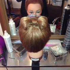 Pretty bow hair up
