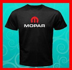 Mopar Logo Simple Red Dodge Muscle Car NEW Men\'s Black T-Shirt S M L XL 2XL 3XL #fashion #clothing #shoes #accessories #mens