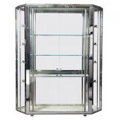 Streamline Chrome And Glass Display Cabinet