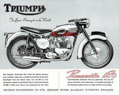 Affiche TRIUMPH Bonneville 1958 Garage par frenchprintorama