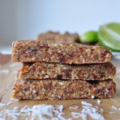 Key Lime Pie Larabars by mywholefoodlife