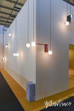 Lambert et Fils Stand at Euroluce. Photo by Nick Hughes Lamp Design, Lighting Design, Luce Plan, Mobile Chandelier, Note Design Studio, Wall Lights, Ceiling Lights, Mexican Designs, Stand Design