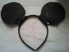 How to make Minnie Mouse/Micky Mouse ears