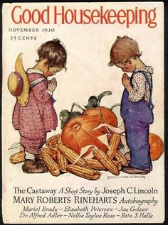 THANKSGIVING by JESSIE WILLCOX SMITH - 1930 Cover Only - Children Praying
