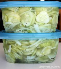 Great Grandma's Freezer Pickles Recipe                                                                                                                                                     More