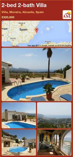 2-bed 2-bath Villa in Villa, Moraira, Alicante, Spain ►€320,000 #PropertyForSaleInSpain