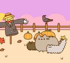 A beautiful autumn day, perfect for strolling out with best siblings. This is the newest posting on Pusheen's FB page (09/22). So cute. You really should check it out yourself (if you haven't already ha). Pusheen Love, Pusheen Cat, Pusheen Stuff, Kawaii Cat, Kawaii Chibi, Cute Chibi, Simons Cat, Pusheen Stormy, Kawaii Illustration