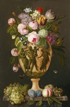 Floral still life paiting by Michel Joseph Speeckaert (1748 - 1838)