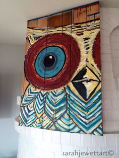 Abstract Owl Painting by sarahjewettart on Etsy https://www.etsy.com/listing/251935864/abstract-owl-painting