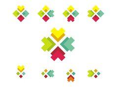 Logo design sub-branding symbols system by Alex Tass Connect Logo, Branding Design, Logo Design, Community Logo, Arabic Design, Sub Brands, Design Projects, Creations, Symbols