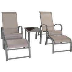 WorldStores Cayman 2 Seater Conversation Set with Coffee Table - Sun Loungers - Alluminium Garden Chairs with Footstools - Cappuccino Brown by WorldStores, http://www.amazon.co.uk/dp/B00E99M164/ref=cm_sw_r_pi_dp_qcpMsb099TKD3