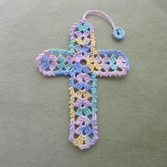 6 Best Images of Crochet Cross Patterns Free Printable - Free Crochet Bookmark Patterns for Crosses, Crochet Crosses Free Patterns and Free Crochet Cross Bookmark Pattern Appliques Au Crochet, Crochet Motif, Crochet Doilies, Knit Crochet, Crochet Coaster, Crochet Cross, Thread Crochet, Love Crochet, Crochet Gifts
