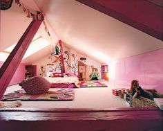 attic room - even though the ceiling is low, it is still a cool space for a kid - cookie magazine Aug '09 - Nathalie Lete home