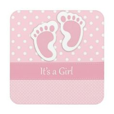 Pink polka dots baby girl footprints birth announcement card template for scrapbooking Moldes Para Baby Shower, Baby Shower Clipart, Baby Shower Labels, Its A Girl Announcement, Welcome Baby Girls, Baby Girl Cards, Baby Clip Art, Baby Footprints, Baby Scrapbook