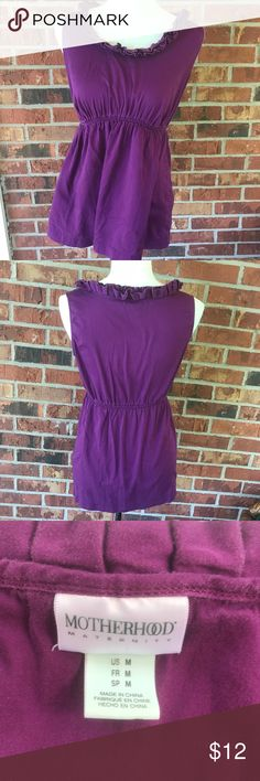 Motherhood Maternity Ruffle Sleeveless Tank Top There is some slight wash wear around the waistband, but overall, it is in great condition. The color is most like the pic with the tag. Motherhood Maternity Tops Tank Tops