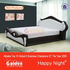 HAPPY NIGHT Indian Wood Double Bed Designs With Good Price (2850#)