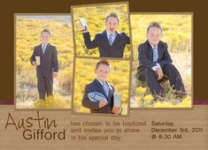 LDS Baptism Invite picture ideas for Maddie and Henry