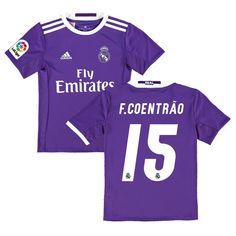F. Coentrao Real Madrid adidas Youth 2016 17 Away Replica Jersey - Purple  Varane 9b6303230