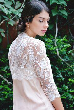 Roseline Bridal french lace bolero shrug by girlwithseriousdream, $320.00