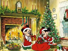 Mickey And Minnie Mouse Christmas mickey mouse minnie mouse christmas christmas pictures christmas ideas christmas images christmas pics christmas photos christmas pic images Natal Do Mickey Mouse, Mickey Mouse E Amigos, Mickey E Minnie Mouse, Minnie Mouse Christmas, Mickey Mouse And Friends, Disney Mickey, Disney Merry Christmas, Christmas Cartoons, Christmas Art