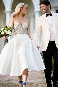 A Moonstone Bodice Is Perfectly Unexpected Pairing With This Vintage Inspired Skirt Civil Weddingshort Bridal Dresseswedding
