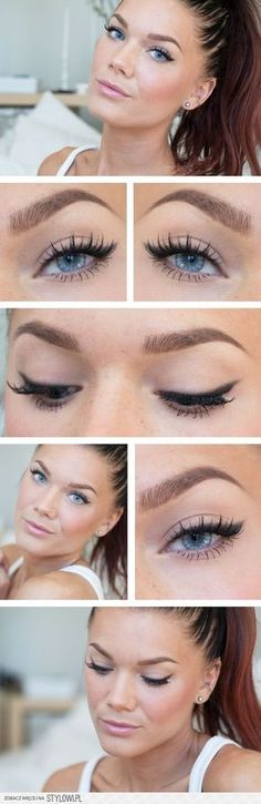 15 Simple Eye Makeup Ideas for Work Outfits - Pretty De… na Stylowi.pl
