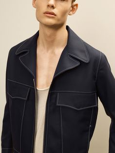Frederik Ottosen by Sigurd Grunberger for Martin Asbjørn Spring/Summer 2016 Mode Masculine, Mens Leather Coats, Leather Jackets, British Style Men, Mens Fashion, Fashion Outfits, Fashion Tips, Campaign Fashion, Make Your Own Clothes