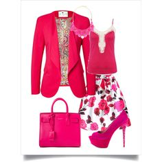 Day in Strawberry by chicmisses on Polyvore featuring Etro, Paris Hilton, Yves Saint Laurent and George J. Love