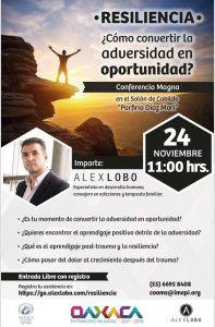 Invitan a la magna conferencia ¿Cómo convertir la adversidad en oportunidad?