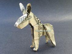 $100 Donkey - Money Origami - Dollar Bill Art