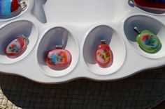 fused glass pendants ~little things by Moni~