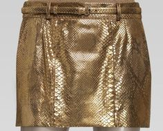 Yes! Golden Gucci skirt