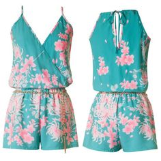 Tickled Pink Floral Print Romper by Jane Divine Boutique www.janedivine.com