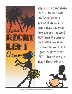 7 Best Hawaiian Luau Party Printable Games images in 2015