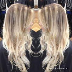 Bright #blonde #balayage by Master Stylist Karen Lino! #ottawa #salon #spa